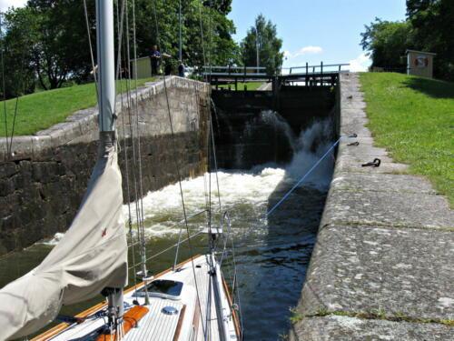 Götakanal, Aufwärts