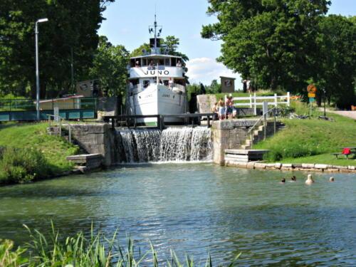 Götakanal, Juno auf dem Weg nach Stockholm