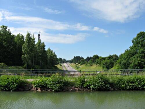 Götakanal, eine Straßenunterführung