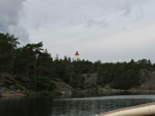 Västervik Spårö Leuchtfeuer. Ankerplatz 57°42.983´N 16°43.826´E