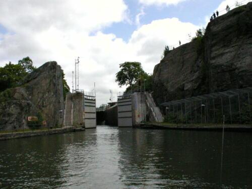 Trollhättankanal Schleusentor