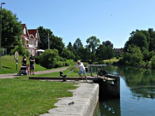 Götakanal, eine der letzten handbetriebenen Schleusen
